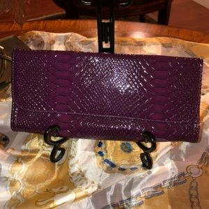 💋Purple, Faux Snakeskin Clutch, Gorgeous Color😍